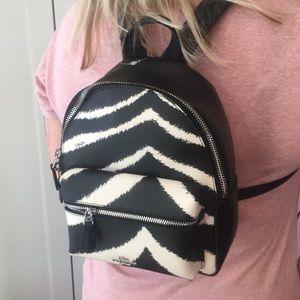NWT Coach zebra mini backpack